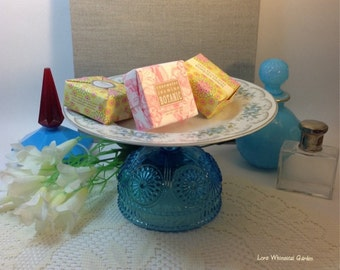 Jewelry Pedestal Stand, Cottage Chic Home Decor, Soaps Holder,Vintage Inspired Vanity Accessory