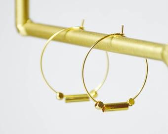 Créoles SIERRA // dorées à l'or fin