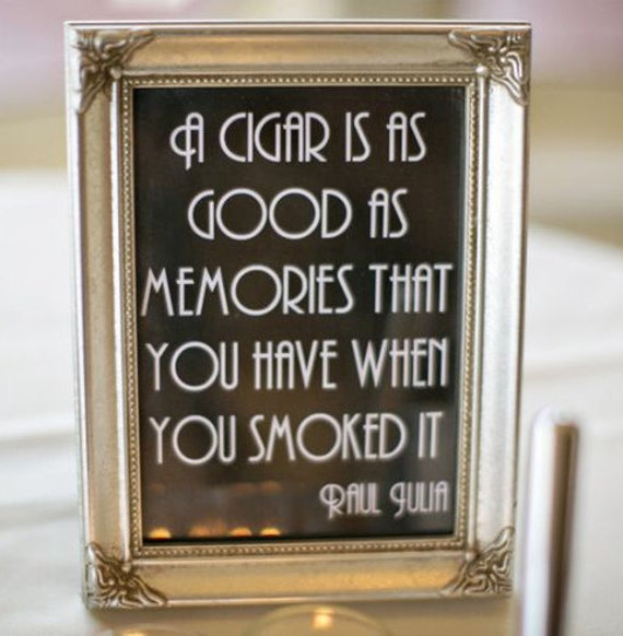 Printable Cigar Bar Quote Sign Wedding Reception Roaring Etsy