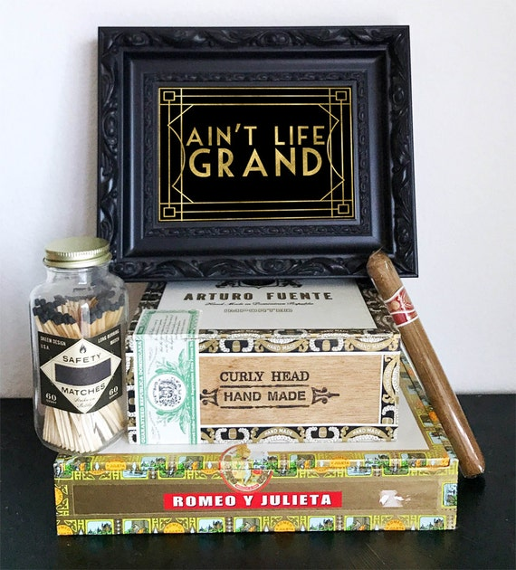 Ain T Life Grand Great Gatsby Sign Roaring 20s Party Etsy