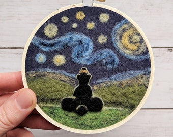 Starry Night Needle Felt Ornament