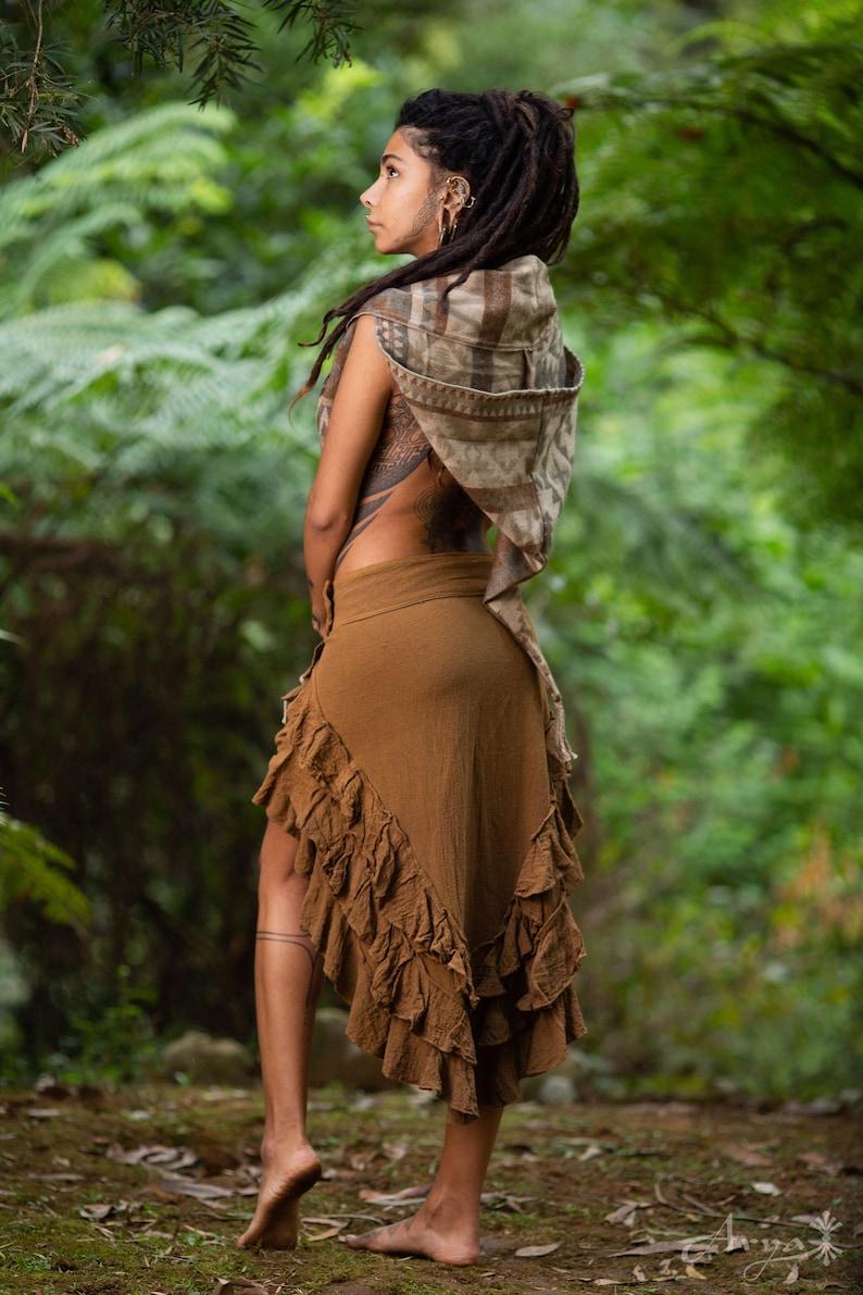 Festival Clothing Bohemian Gypsy Hippie Daenerys Natural Cotton Skirt