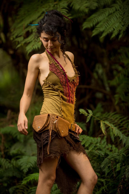 Tinkerbell top Green/Orange Festival Clothing Doofs Tribal ...