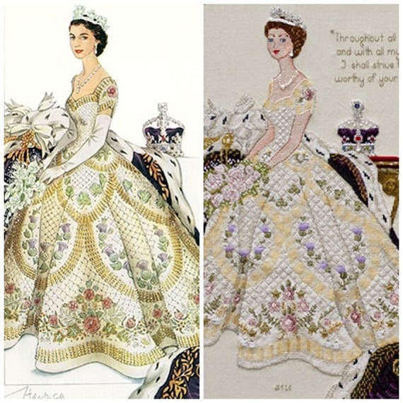 Queen Elizabeth II in Her Coronation Dress Historical style | Etsy