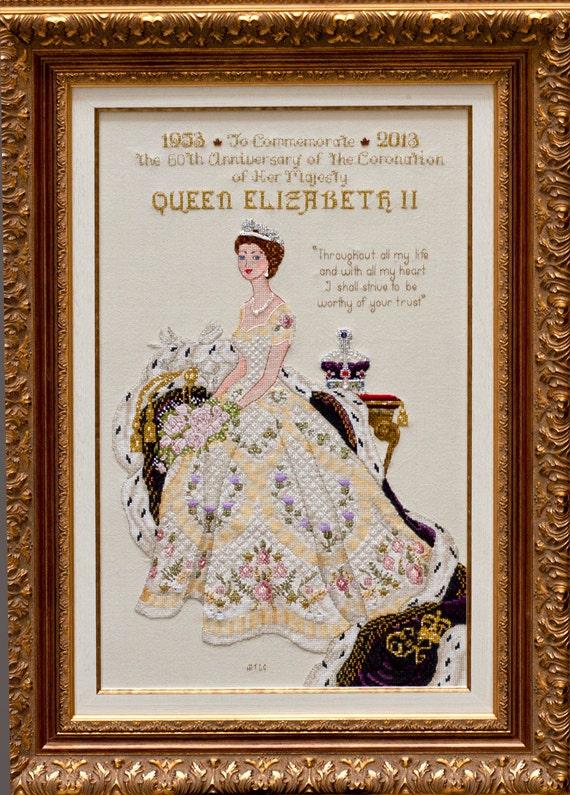 Queen Elizabeth II in Her Coronation Dress Historical style
