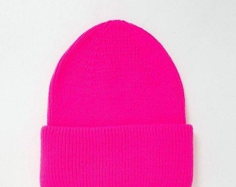 Pink Beanie hat Personalized slouch Unisex hat Gifts For Mom sister Embroidered Hat with name tag or logo Cute And Adorable Gifts for her
