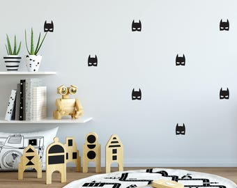 Batman Mask Wall Decal - Choose Your Color, Batman Wall Decals, Batman Decals, Batman wall stickers, Wall Decal Nursery