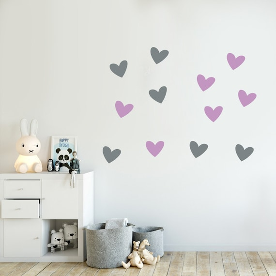 30 medium 5cm gold colour Hearts Love vinyl wall art sticker room decal stickers