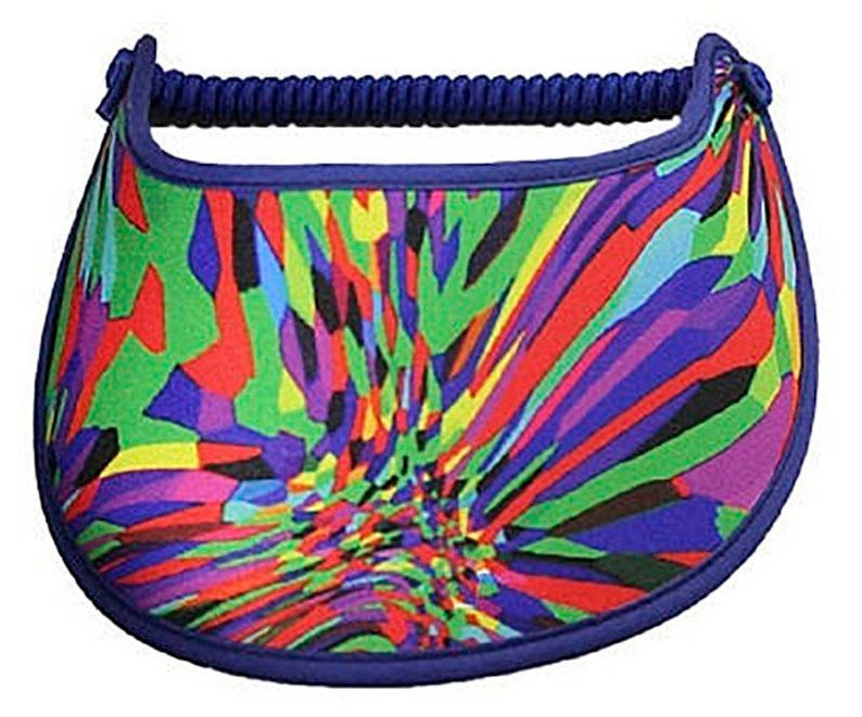 Visor with fabric trimmed edges Burst of color M140.