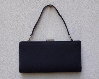 Simple Little Black Handbag Purse with Mirror
