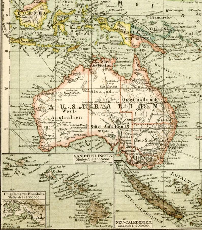 Map Of Australia 1700.Australia New Zealand Wall Art Antique Map Of Australia And Etsy