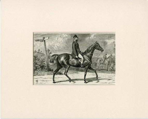 Stampe Antiche Arte Cavallo C1873 Antica Incisione Cassell Etsy