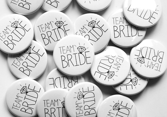 Bride Tribe badge black and gold X15 team hen bachelorette party