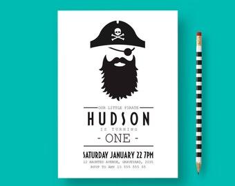 Pirate birthday invitation, pirate birthday, pirate party, Pirate Invitation, Pirate Party Invitation, 1st birthday boy invitation