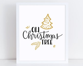 Christmas Tree Wall Art - Christmas Carol Art - Christmas Tree - Christmas Wall Art - Christmas Wall Decor - Christmas Print