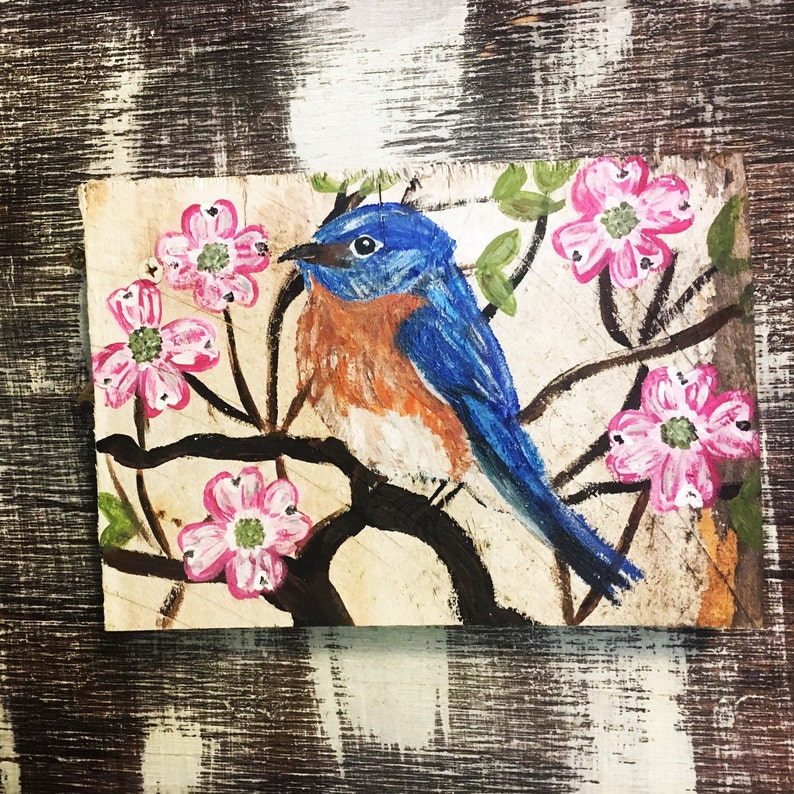 5218e817fdf Dogwood Painting Acrylic Bird Painting Dogwood Art Eastern