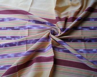 Cotton from Northern Thailand. Cream multi stripe. 1.6 metres/65""