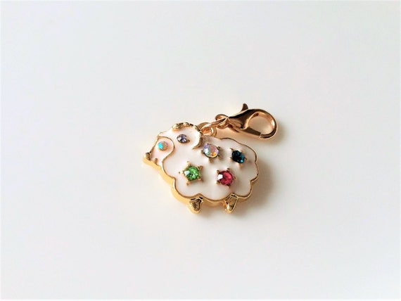 Charms-Dangling Rhinestone Charms-Crystal Heart Charms-Destash-DIY Jewelry-Beading Supplies-European Charms-Gift For Her-Celestial Luxuries