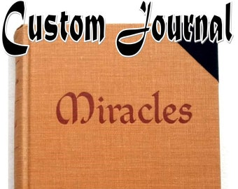 Miracles Diary with Pockets, Encouragement Gift for Spiritualist, Custom Metaphysical Journal