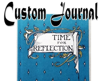 Time for Reflection Memory Diary with Pockets, Small Thinking Notebook