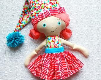 Noelle - Elf Doll - Christmas Doll - Christmas Gifts - Elf Toy - Handmade Doll - Christmas Toys - Christmas Decor - Kids Christmas -