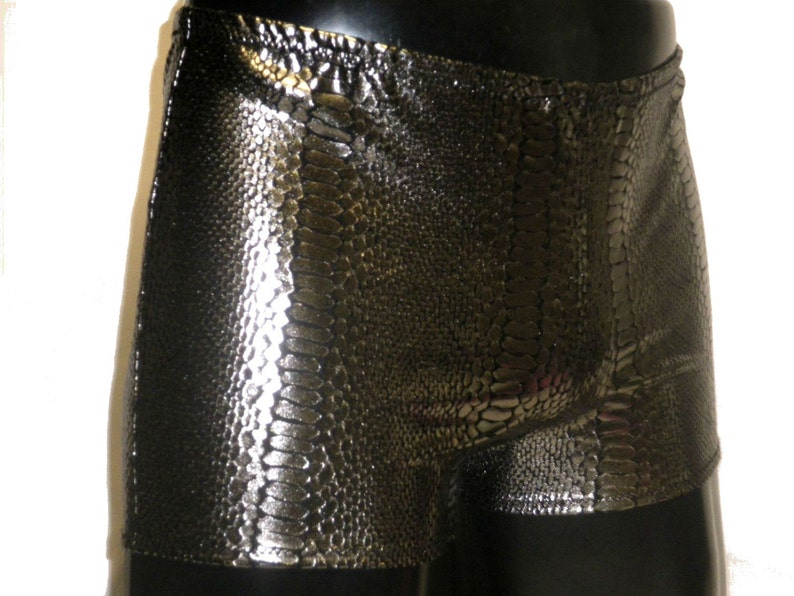 Mens Metallic Shorts Spandex Hotpants L XL Booty Shorts image 0