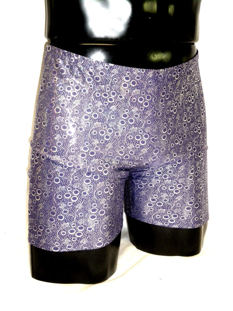 Mens Yoga Shorts Bikram Hot Yoga M Medium Purple Silver image 0