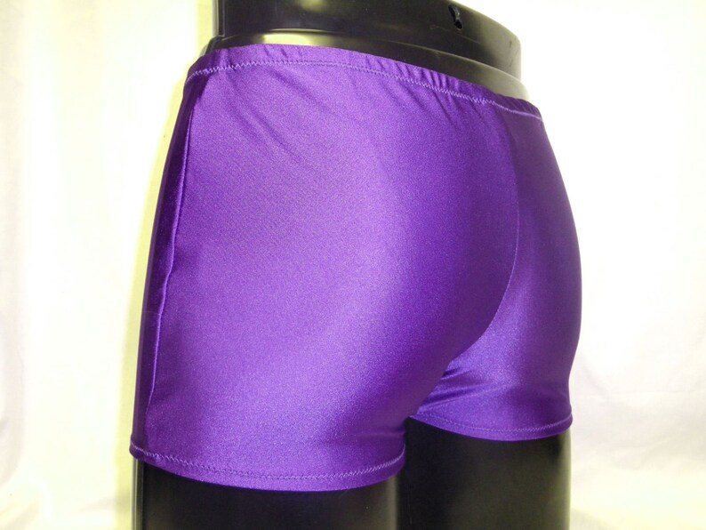 Mens Lycra Low Rise Hotpants/Shorts L Large 34-38 inch Purple image 0