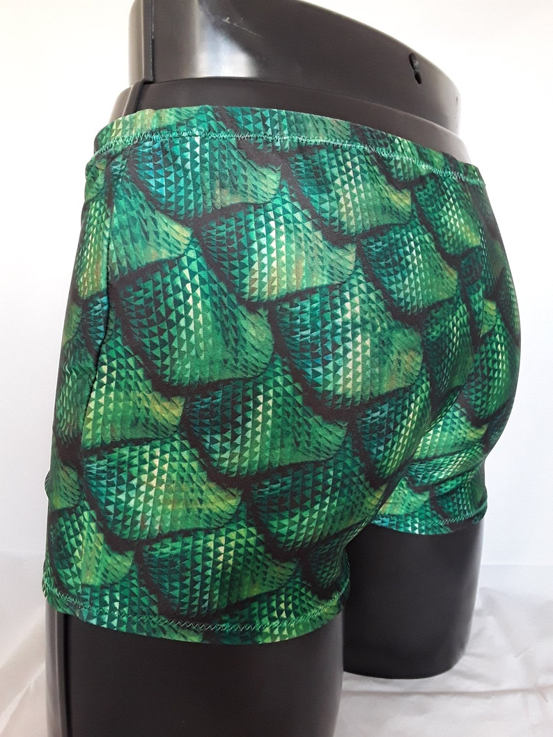 Mens Lycra boxers 'Emerald Dragon' Mens Festival image 0