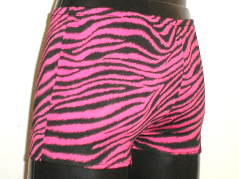 Mens Hotpants Booty Shorts M L Pink Tiger Print Pink image 0