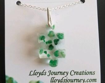 Emerald Puzzle Piece Pendant