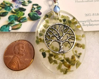 Maine Tourmaline with Tree of Life pendant