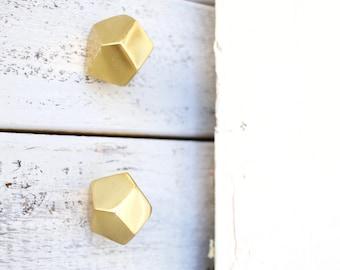 Perfect Geometric Knobs, Gold Decor, Knobs, Gold Knobs, Drawer Knobs, Metal Knobs,  Dresser Knobs, Geometric Decor, Cabinet Knobs, Bedroom Decor Gold