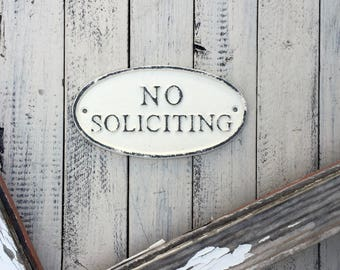 No Soliciting Sign, No Soliciting Yard Sign, Soliciting Sign, Front Door Sign Decor, Door Sign, Front Yard Decor, Outdoor Decor, Iron Sign