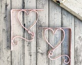 Single Heart Bracket, Wall Decor Brackets, Nursery Decor, Metal Brackets, Shelf Decor, Baby Room Decor, Cottage Chic Decor, Shelf Brackets