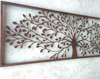 Metal Wall Art Decor Tree Home Rustic