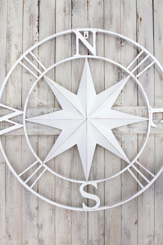 Compass Wall Art Metal Compass Wall Art Nautical Etsy