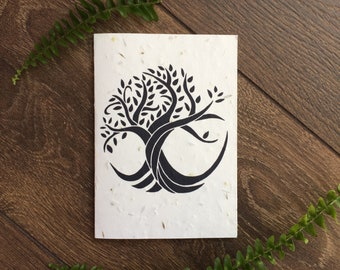 Tree of Life Plantable Seed Card with Vegan Envelope - New Baby - Handfasting - Pagan Wedding/Engagement - Thank You Card - Congratulations