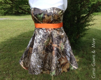 Mossy Oak Camo Dress With Sash