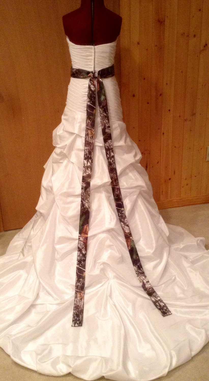 Camo Sash for Wedding Dress