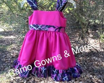 Muddy Girl Camo Flower Girl Dress