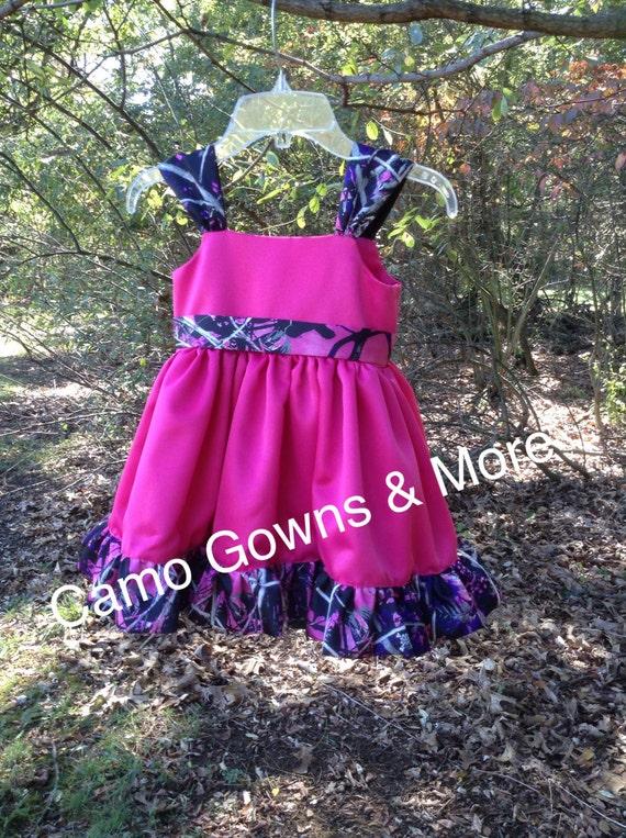 Muddy girl camo flower girl dress etsy image 0 mightylinksfo