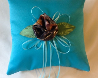 Ring Bearer Pillow with Mossy Oak Camo Flower