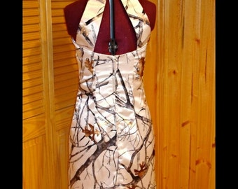 Camo Dress with Back Straps and Collar