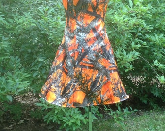 Orange Camo Dress Bridesmaid Dress