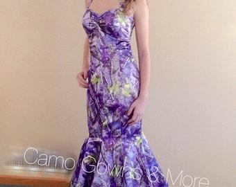 Mermaid Purple Camo Gown
