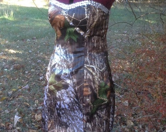 CAMO Prom Dress with Rhinestones