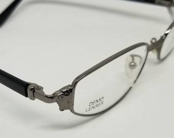0019c5bda60 Vintage New Old Stock Versace Black Eyeglasses Frames Mod. M72 Col.89M DEMO  LENSES