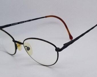 84af085b728c Vintage Fendi Eyeglasses Frames Mod F 35 Tortoise Shiny Black RX LENSES