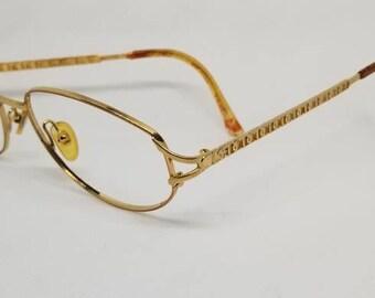 f58b6be6d7a Vintage Christian Dior Gold Plated Eyeglasses Frames NO LENSES